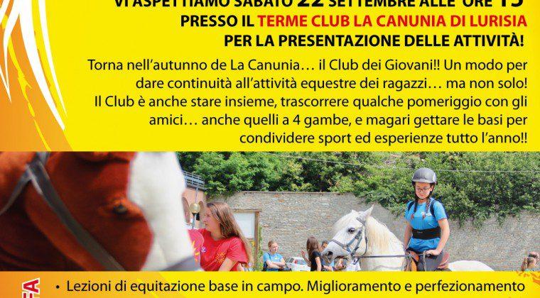 Club dei Giovani La Canunia…per un autunno in sella!