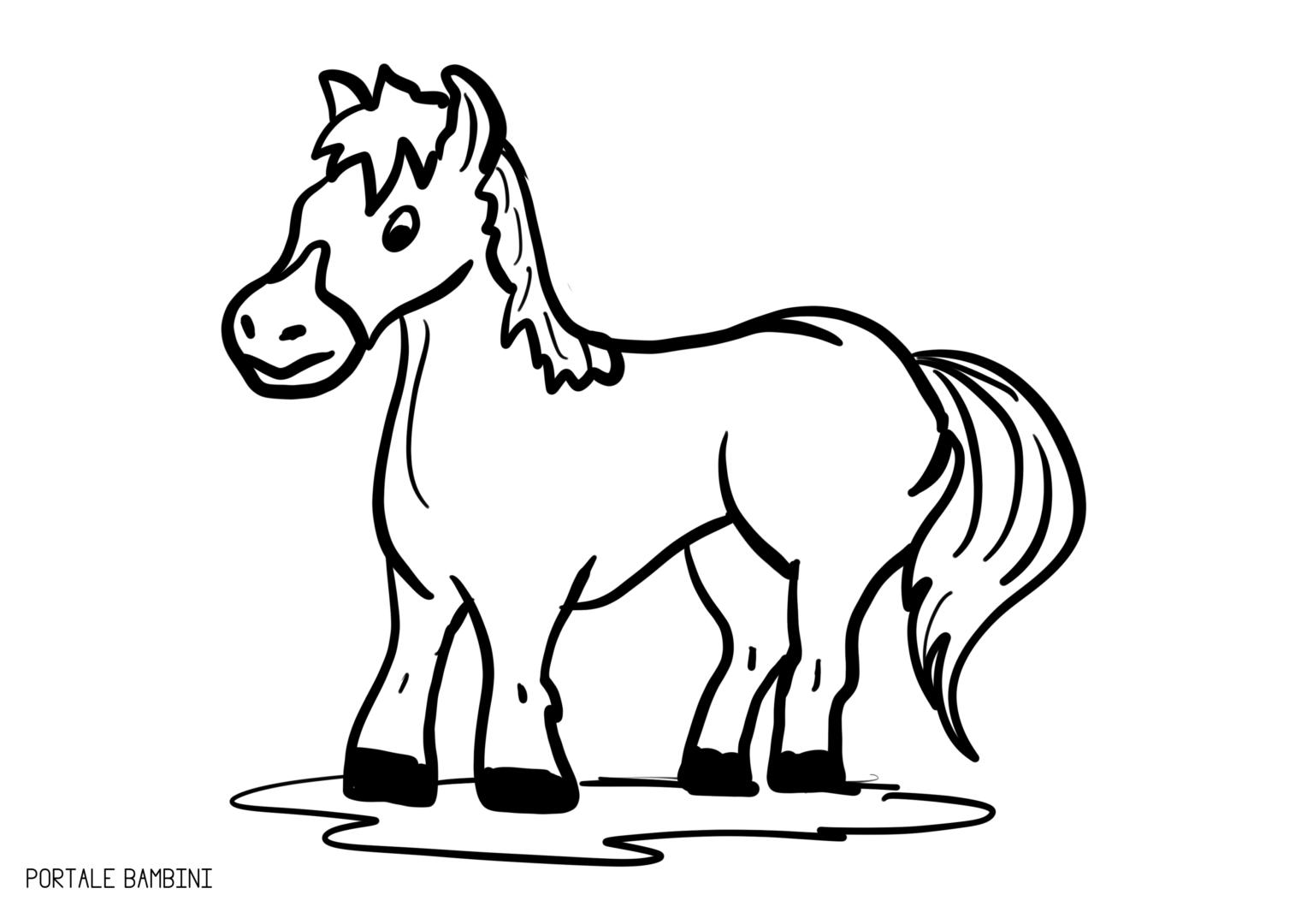 Disegni Da Colorare Di Un Cavallo.I Cavalli E Noi Per Sentirci Vicini